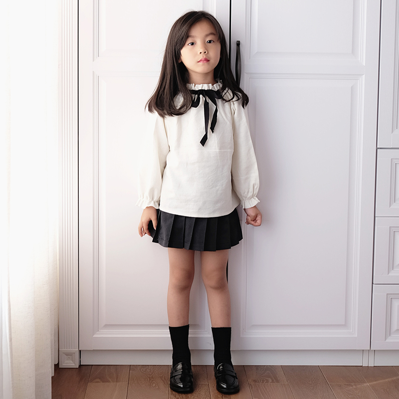 Bbw Tong Spring And Autumn Korean Version Of The Childrens Clothing Shirt Girls Long Sleeved