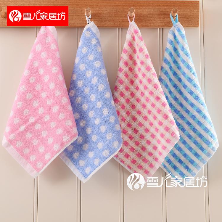 10条装纯棉方巾小毛巾儿童巾柔软吸水婴幼儿园四方巾擦手洗脸手帕