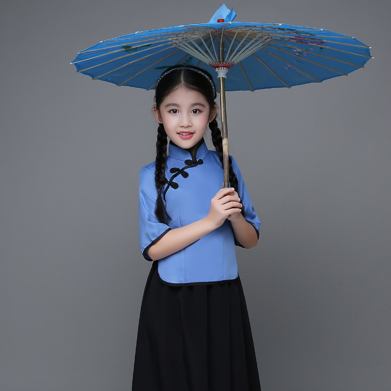 Children's costumes wind dresses girls Republic of China clothing May Fourth Youth Clothing Republic of China student clothing