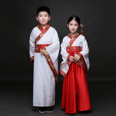 Boys' costumes, Hanfu, boys and girls, children's class, clothing, children's books, children's disciples, stage performances, schoolchildren, Confucius