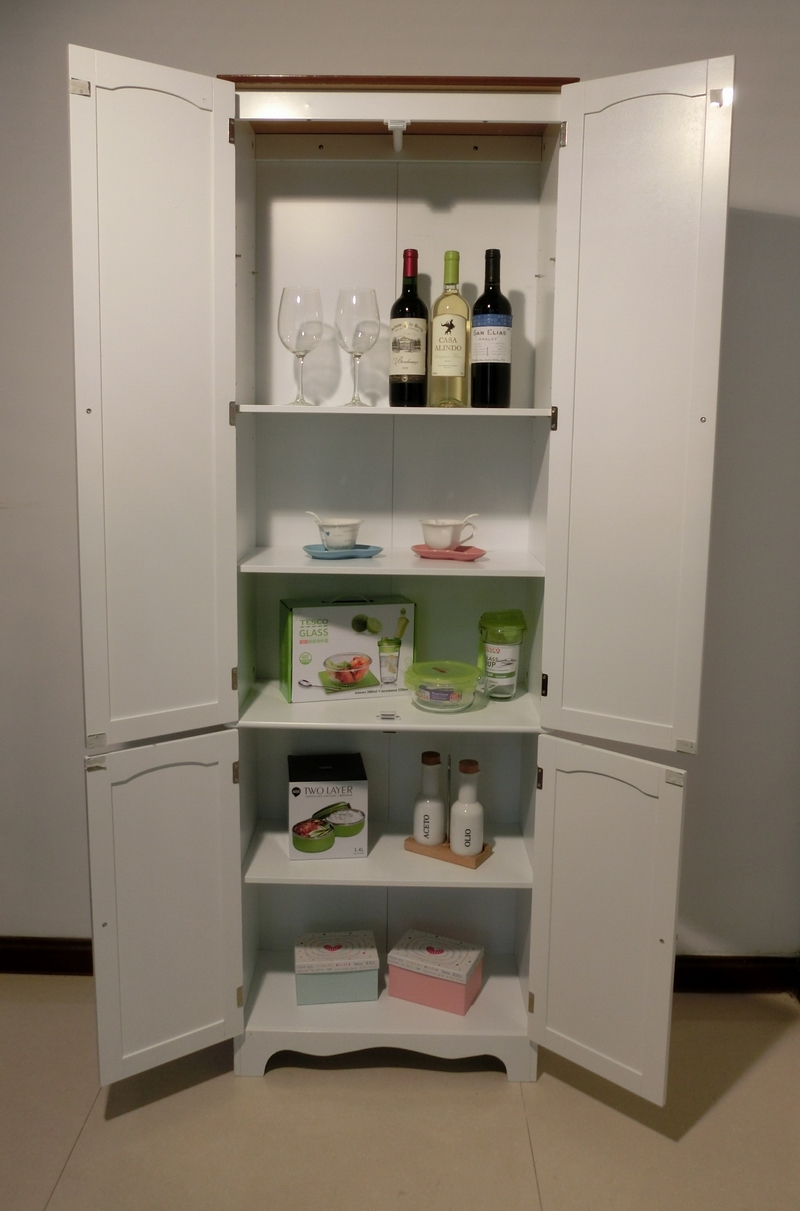 Kitchen Pantry Linen Storage Cabinet Cupboard Bathroom