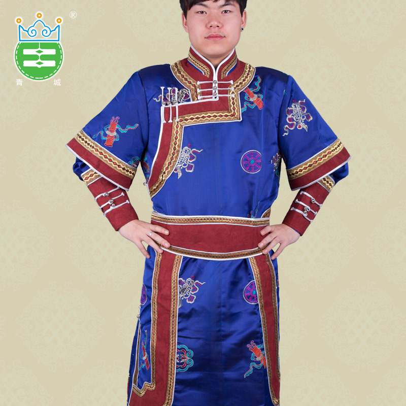 Ethnic minority luxury sleeves Mongolia robe boys living shopkeeper  recommended elements autumn and winter costumes show 2d7728f7c