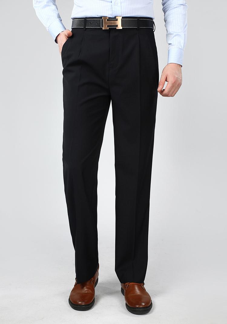 Mùa hè mới phần mỏng người đàn ông trung niên của quần lụa đôi xếp li phù hợp với quần daddy quần dài lỏng eo cao