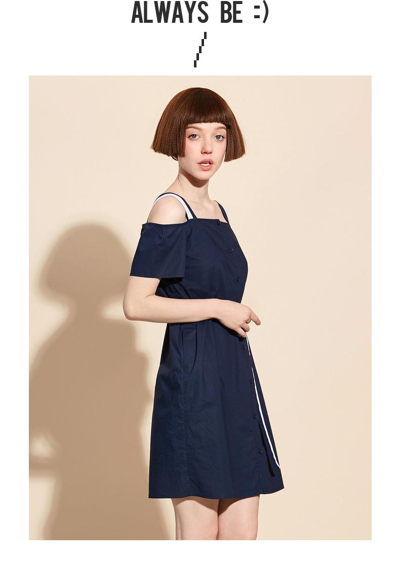 Mall với cùng một thơ Fan Li 2017 mùa hè hit màu vui tươi dress 3170511391051