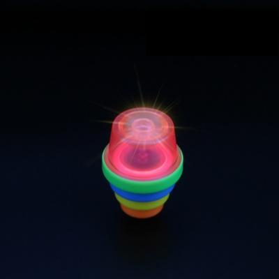 竹蜻蜓手枪飞天仙子户外发光飞碟弹射旋转飞盘儿童男孩飞行器玩具