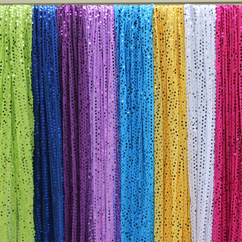 New Wedding Props Sequins Cloth Stage Background Decorative Gauze Decoration