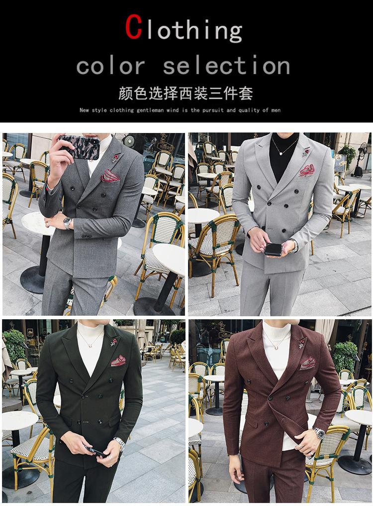 秋装新款韩版小西装 高品质西服套装  结婚礼服两件套 LJT13