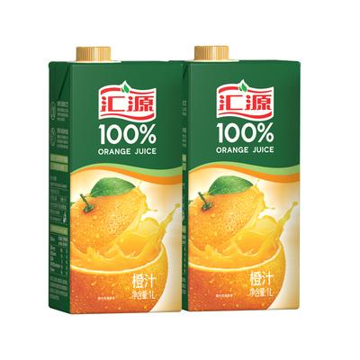 汇源 浓缩100%果汁 1L*2盒两联包装 饮料装橙汁桃汁苹果汁
