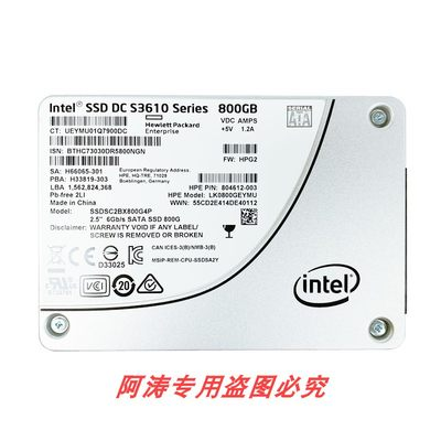 Intel/Intel DC S3610 200G 480G 800G 1.2T 1.6T MLC Enterprise Level