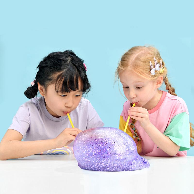 费雪牌DIY起泡胶儿童无毒假水史莱姆抖音网红水晶泥玩具节日礼物
