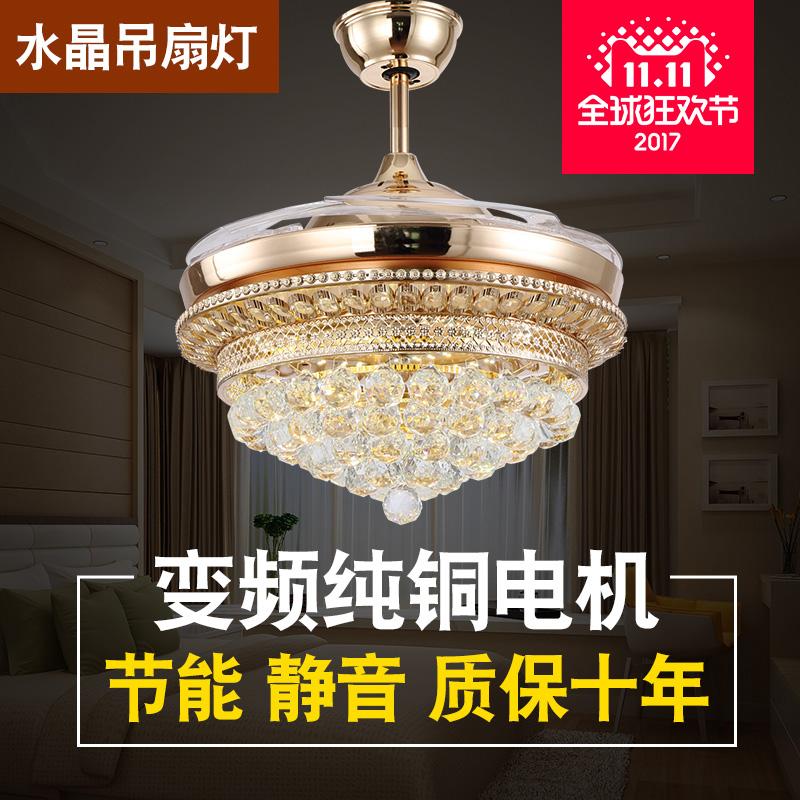 Хитрость вентилятор свет вешать вентилятор свет магазин гостиная спальня заряженный вентилятор люстра кристалл декоративный вешать вентилятор современный континентальный