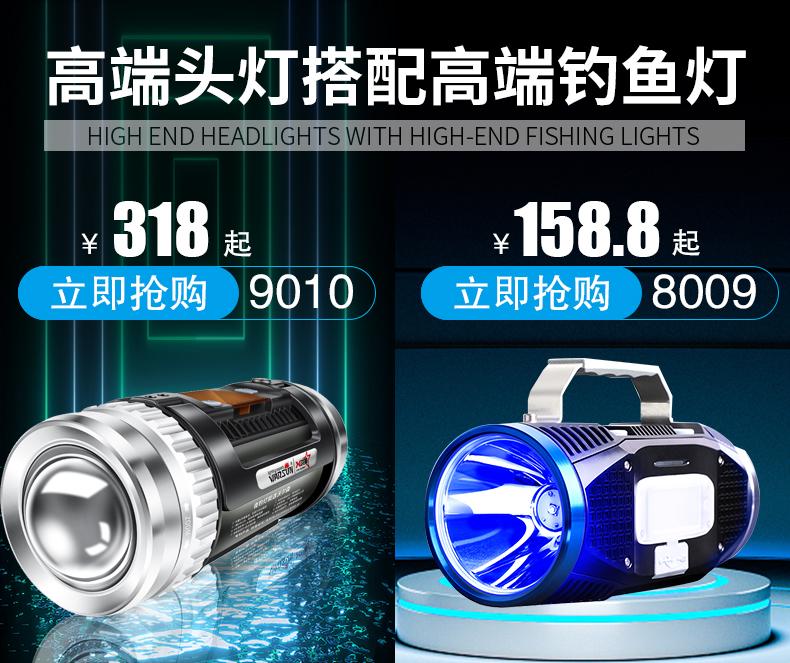 感应头灯强光夜钓钓鱼专用充电户外超亮头戴式超轻小号型超长续航商品详情图