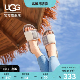 UGG2020 summer ladies cool drag flat casual fashion magic stickers word sandals 1107911