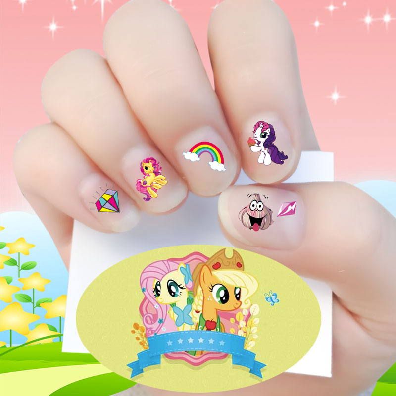 USD 9.04] My Little Pony kids nails stickers baby waterproof nail ...