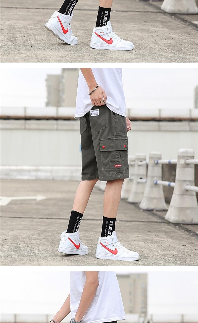 现货夏季新款日系潮牌宽松工装裤男短裤运动五分裤 D107-D610-P32