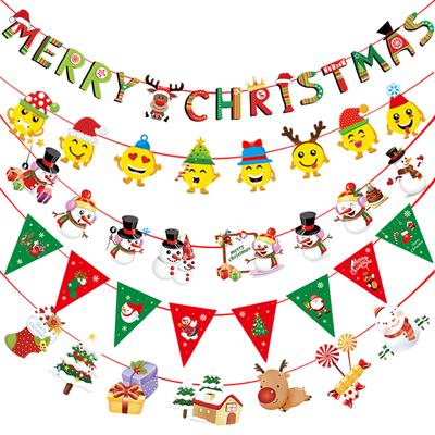 圣诞节装饰品挂旗拉旗彩旗吊旗