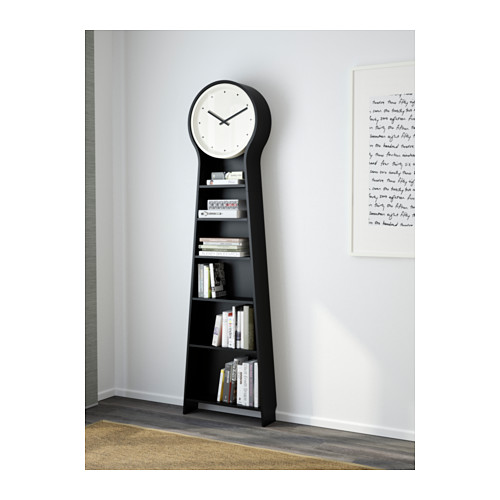 Ikea Genuine Pan Duo Home European Style Floor Clock Fashion Simple Bookcase Bookshelf