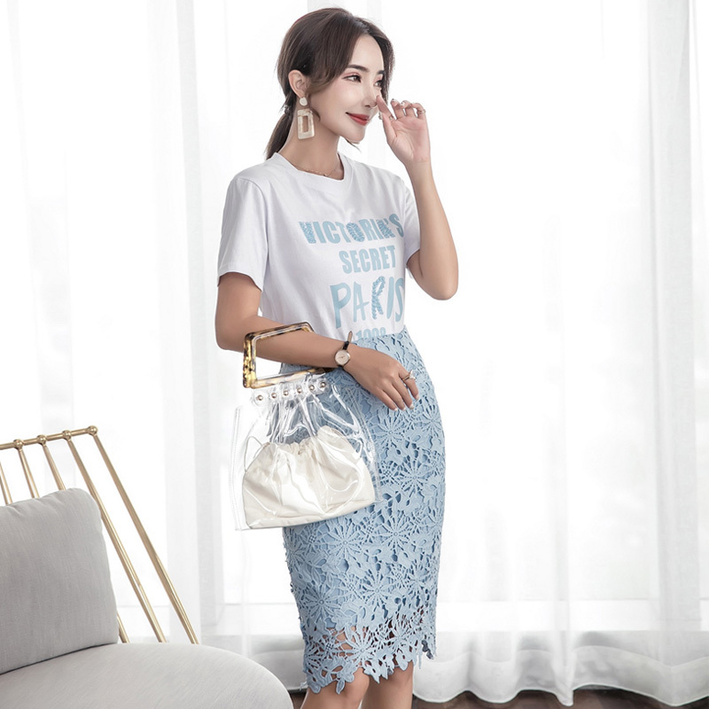 fc953a3244a Real Shot Make 2018 summer wear new lady ins super long medium lace dress  fashion set with video