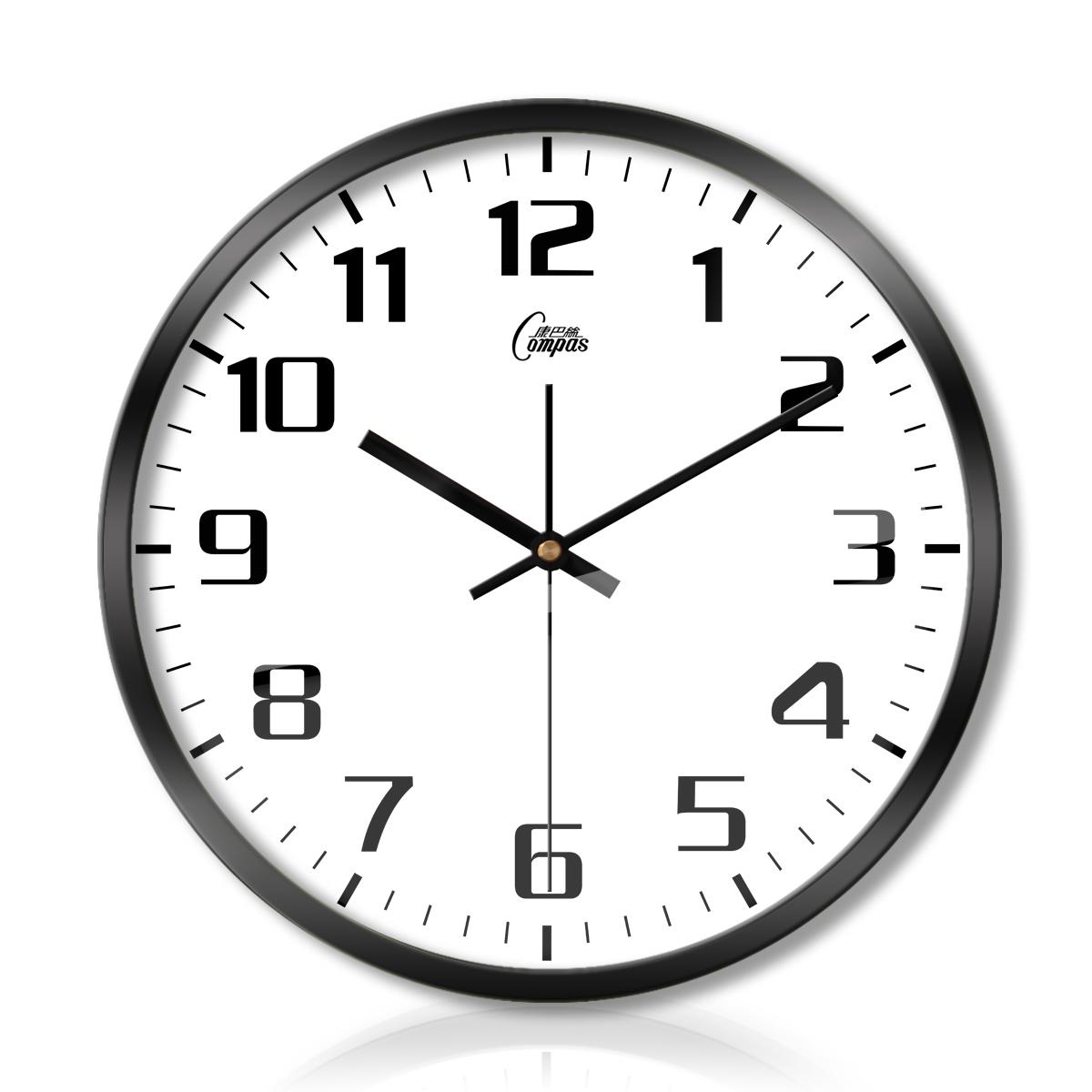 Мир пакистан провод часы настенные часы гостиная спальня немой сканирование металл кварц колокол творческий просто мода стена колокол 401
