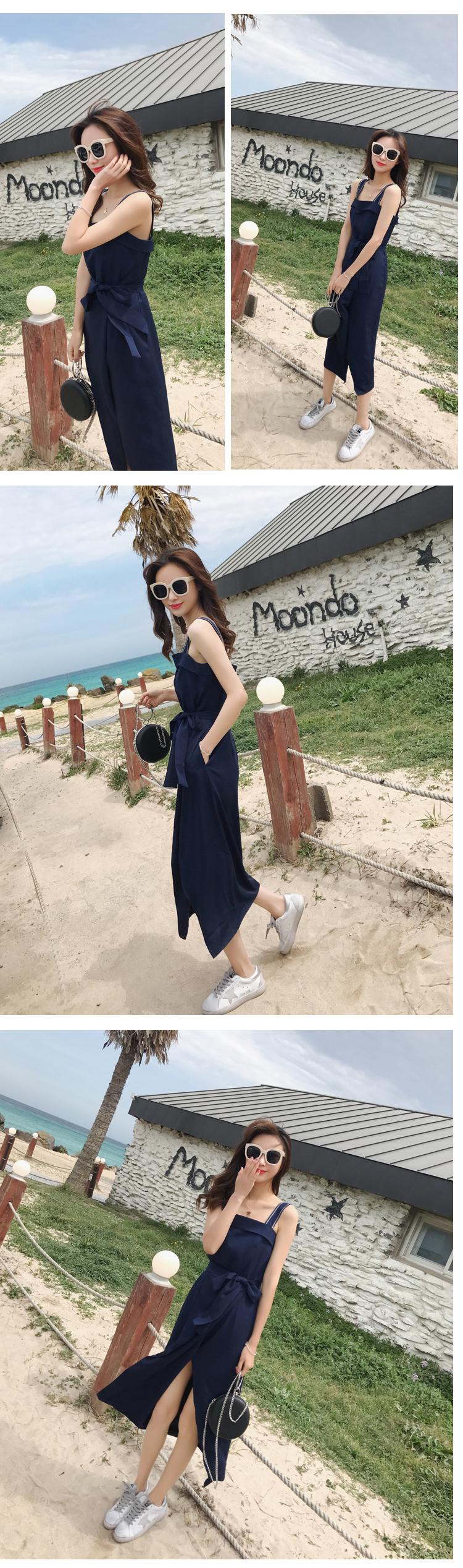 复古背带连衣裙8266-P90(控价138)现货(加XS)