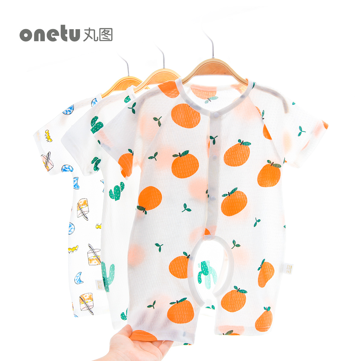 61d3a5626 Baby onesies cotton open file newborn baby clothes thin section summer men  and women short sleeves robe newborn summer clothes