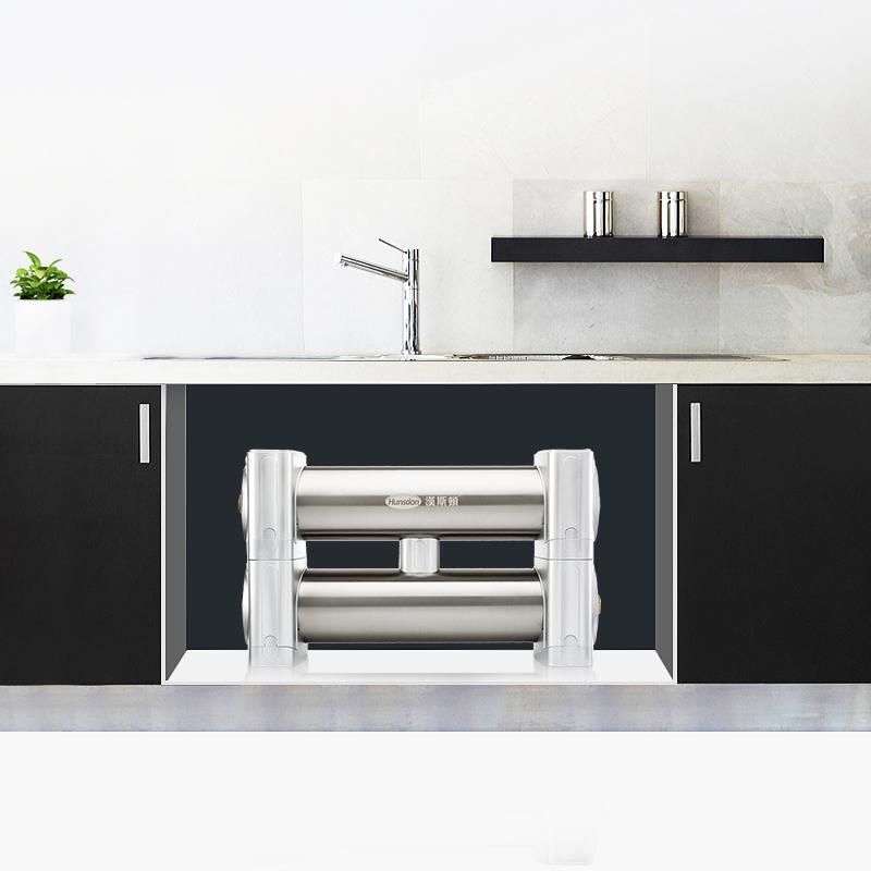 汉斯顿净水器家用厨房净水机不锈钢超滤双水净化过滤器1200DK