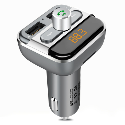 现代车载mp3播放器蓝牙接收器免提电话汽车多功能usb点烟器充电器