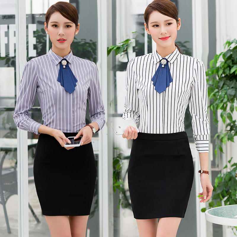 Spring And Autumn Womenu0027s Hotel Overalls Long Sleeved Shirt ...