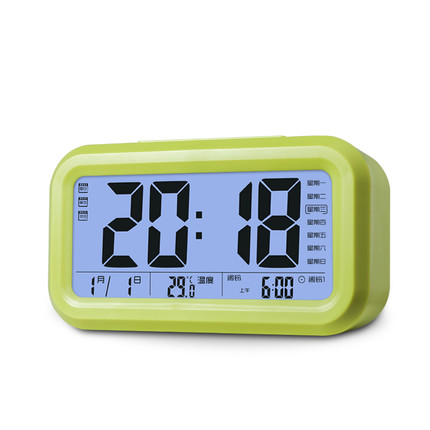 Alarm clock student creative mute small clock intelligent electronic music bed simple luminous multifunction