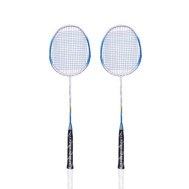 兰威正品羽毛球拍2支装耐用型碳素