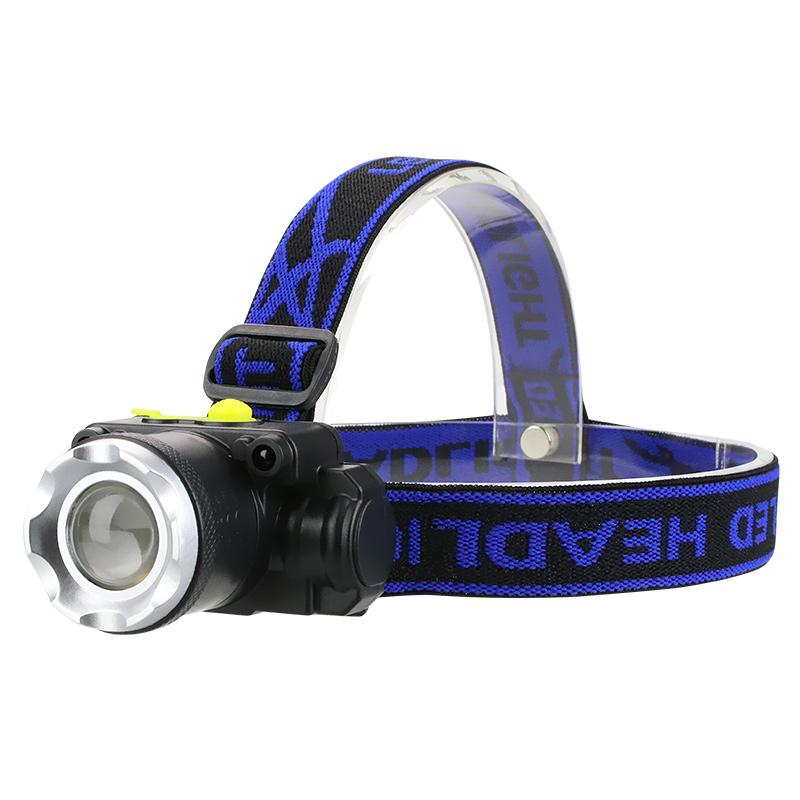 LED头灯强光充电超亮头戴式手电筒户外远射感应夜钓鱼小氙气矿灯
