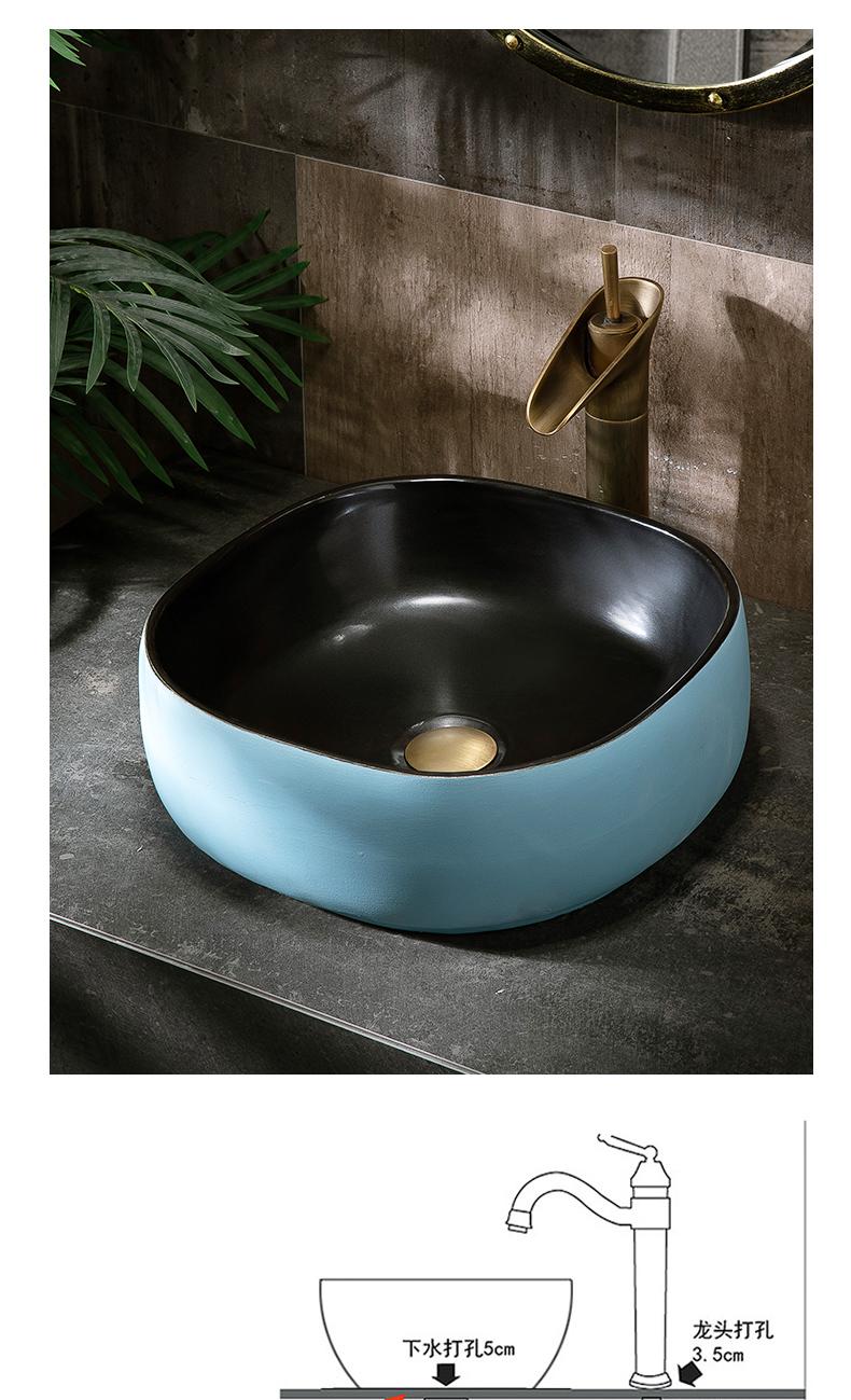 On the ceramic lavabo small family single basin courtyard pool simple birdbath household lavatory toilet stage basin