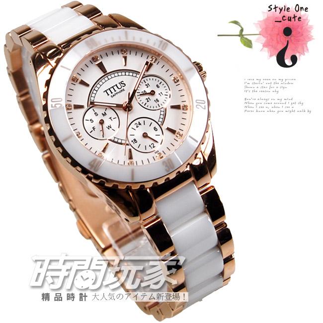 35ad45e09 Titans TITUS ladies semi-ceramic watch retro fashion brand new ...