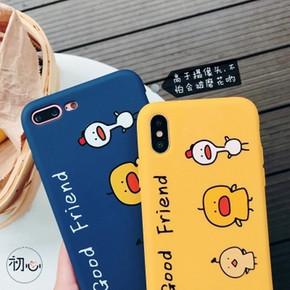 呆萌小黄鸡8plus苹果7p手机壳