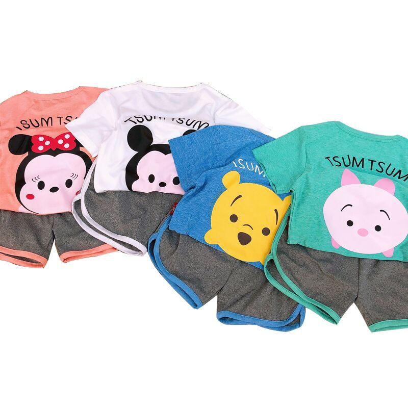 儿童短袖套装女童速干衣男童夏季衣服半袖小女孩幼儿园童装男孩子