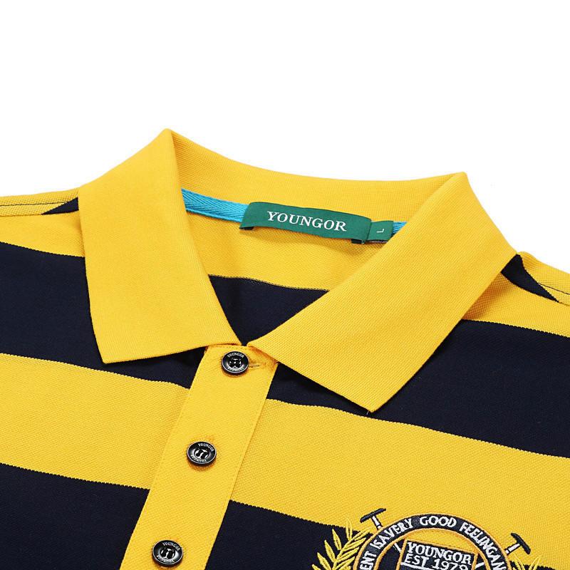 Youngor Youngor mùa hè nam áo sơ mi polo nam sọc ngắn tay của nam giới kinh doanh bình thường T-Shirt nam 5589