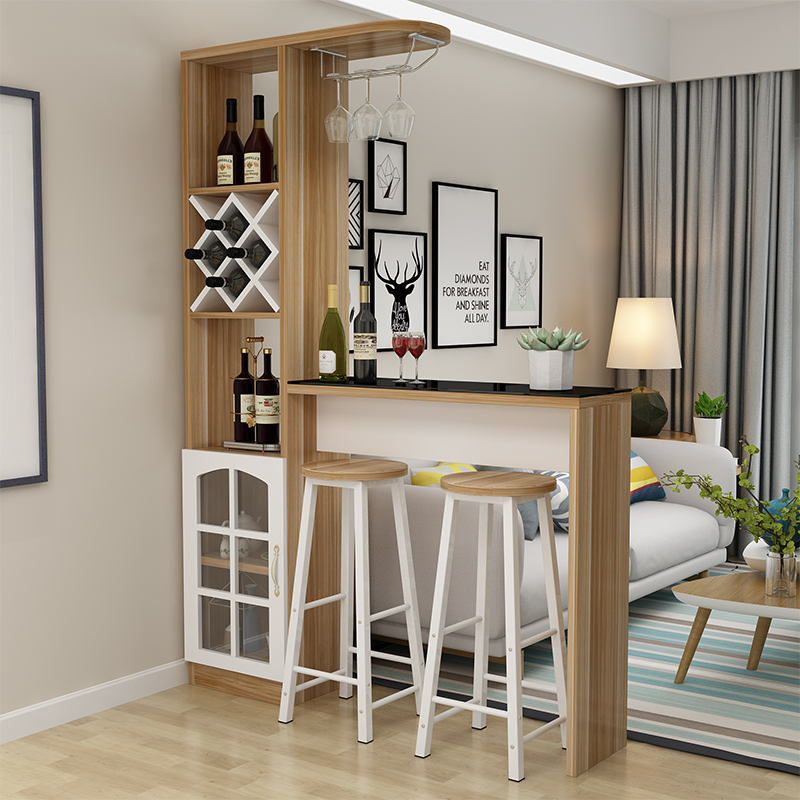 Household Bar Table Simple Modern Bar Table Wine Cabinet Living Room Dining  Room Partition Cabinet Corner Simple Wall Small Bar