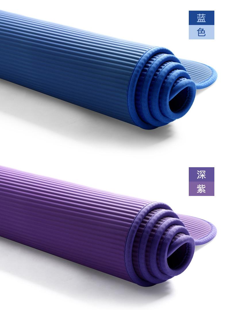 悦步 男士健身瑜伽垫 10mm 90cm加宽 带锁边 图12