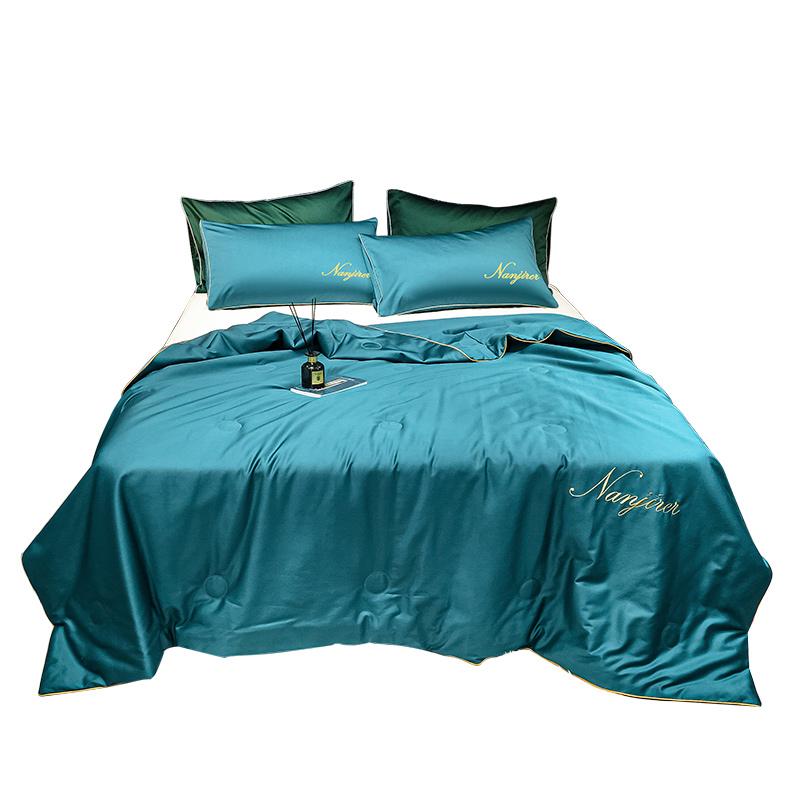 可水洗真丝夏凉被床单四件套空调被三件套冰丝夏被春秋季薄被子芯