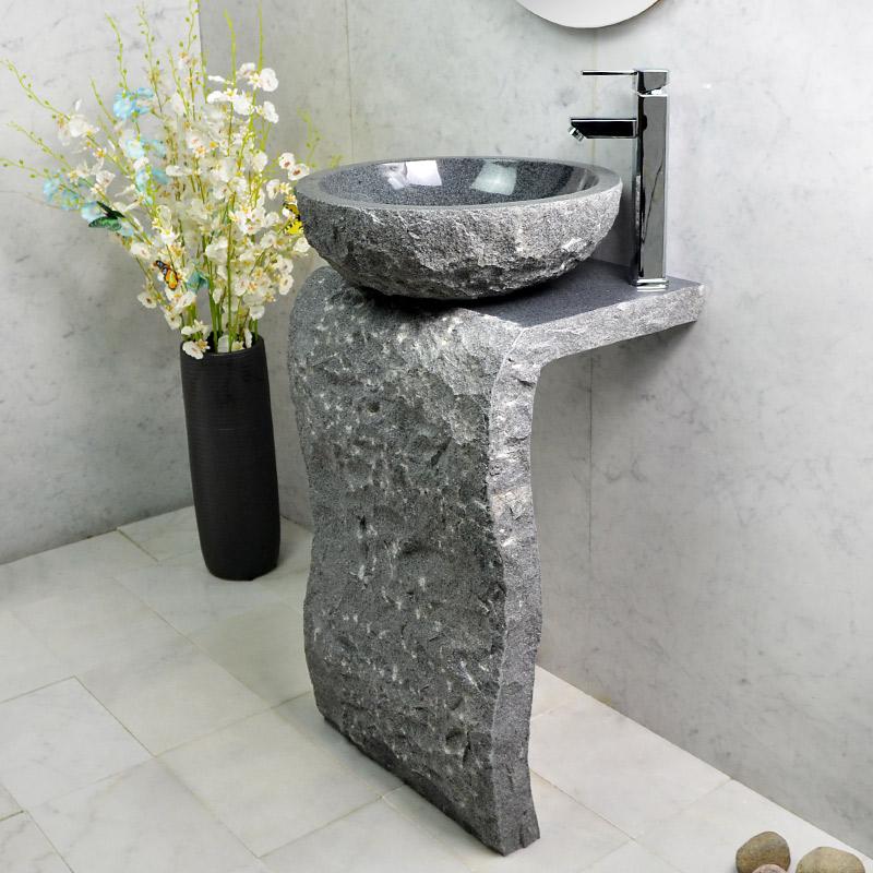 Stone Column Basin Sink One Floor Bathroom Art Balcony Home Simple Outdoor Washbasin