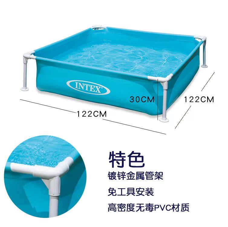 INTEX плавательный бассейн квадрат трубка полка пруд ребенок купание ребенок морской мяч бассейн рыбалка бассейн почта