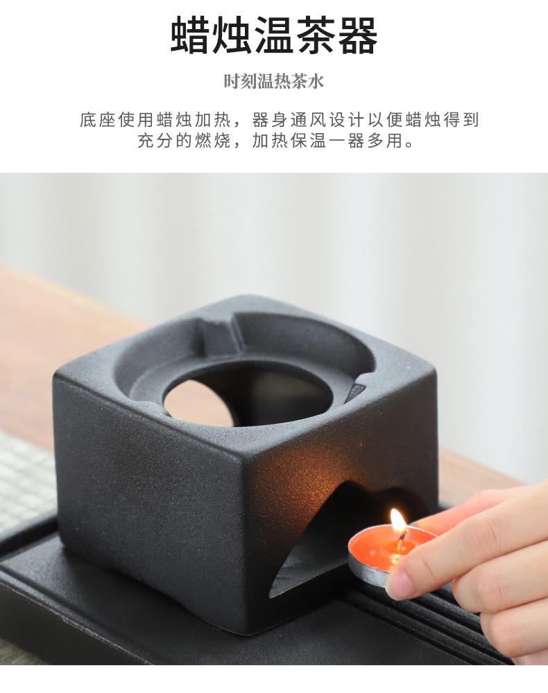 Japanese coarse ceramic tea set of girder pot of warm tea based heating base suit retro teapot ceramic tea tray