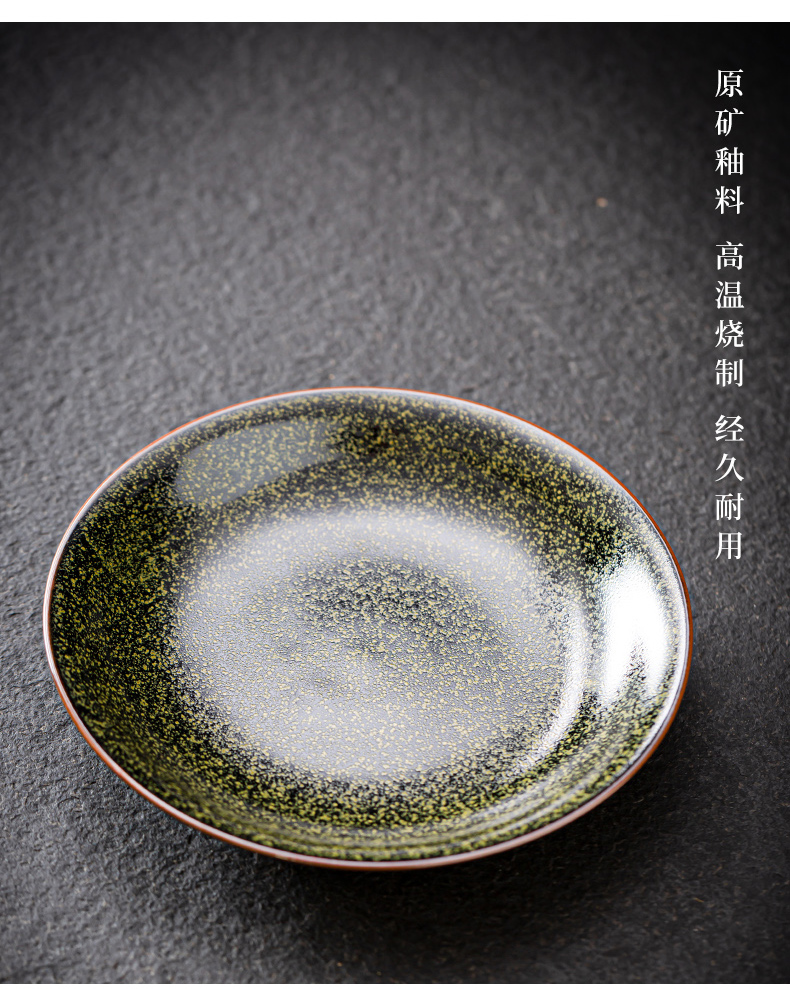 Japanese style restoring ancient ways round platter up ceramic simple candy fruit bowl dish tray snack plate cake dessert