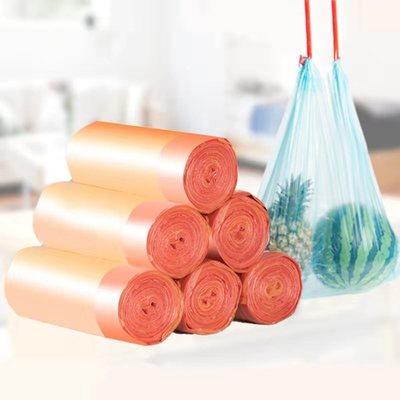 【多款垃圾袋】抽穿绳自动收口平口分类加厚可降解家用手提垃圾袋