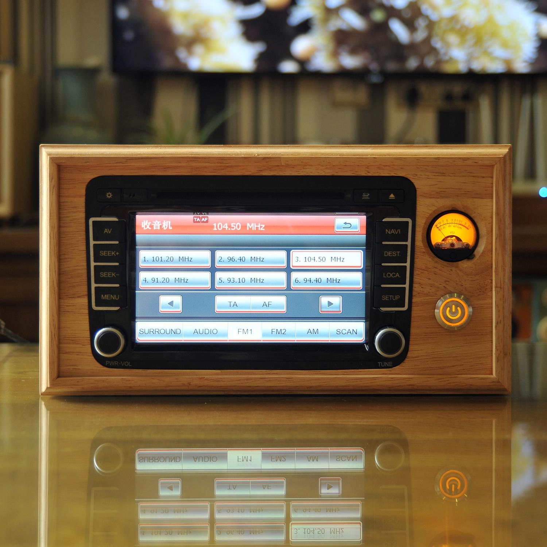 Foss speed Maiteng car CD machine modified home desktop audio special edition handmade solid wood main shell shell