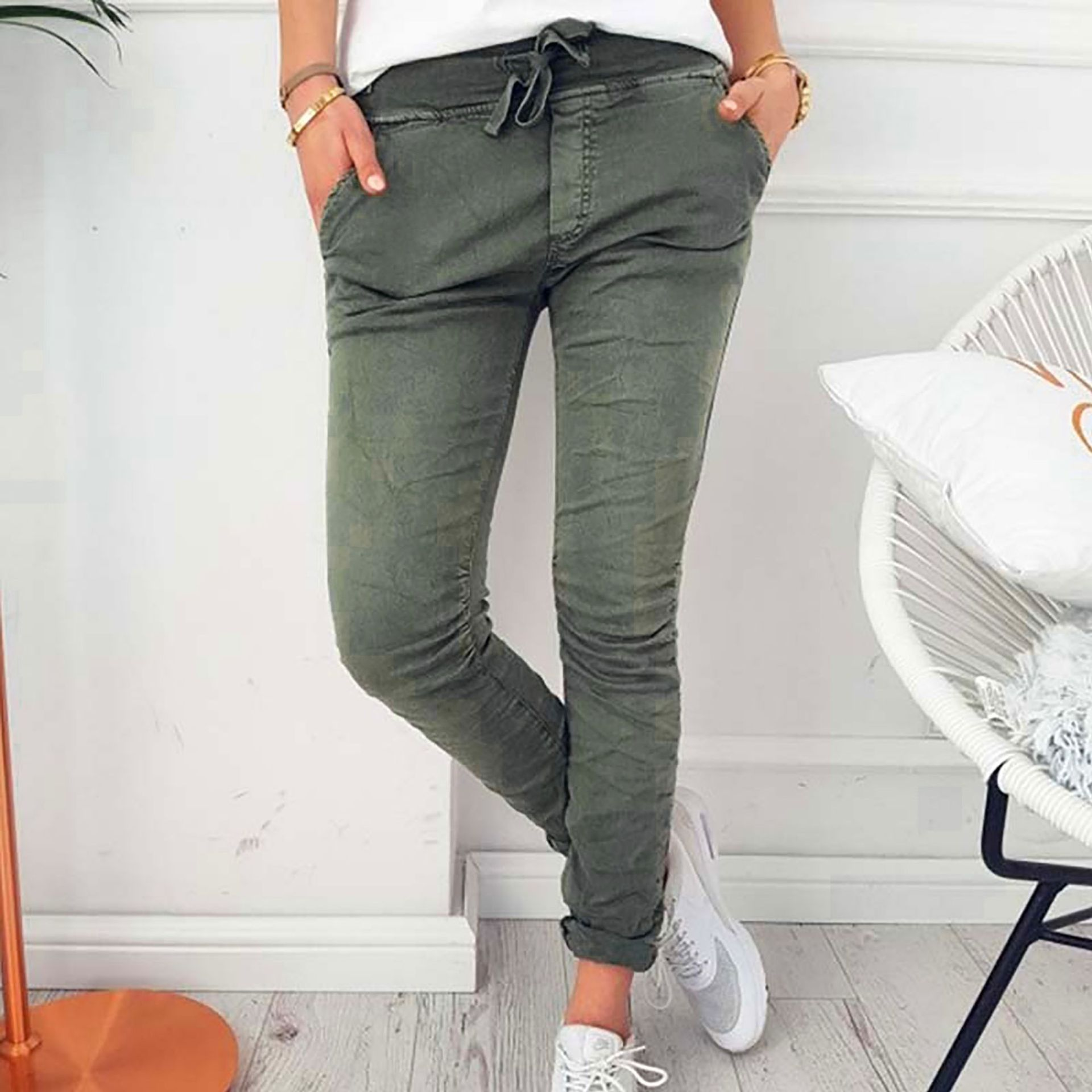 2018 speed sells Wish hot sale explosions Europe and America ladies fashion casual slim tight stretch pants