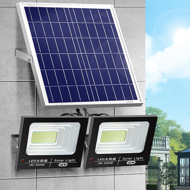 太阳能灯户外庭院灯路灯led投光灯照明一拖二家用新农村超亮防水