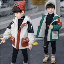 男童儿童加厚加绒休闲保暖夹克男风衣外套