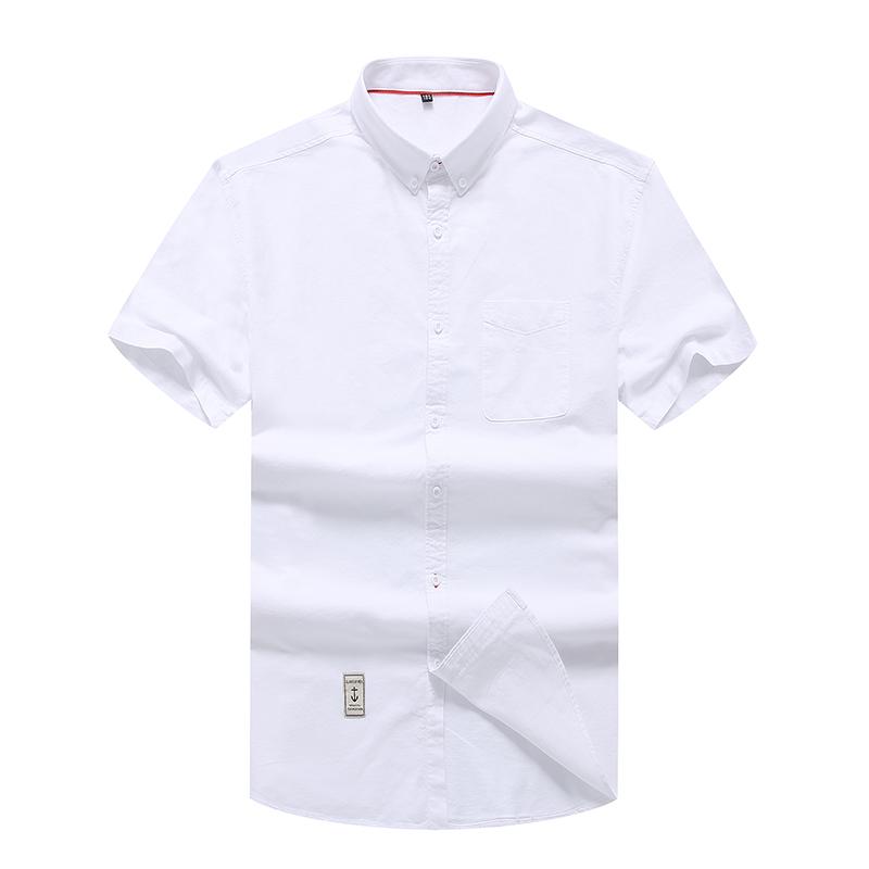 男士短袖衬衫夏季加肥加大码新款纯棉商务休闲衬衣胖子半截袖布褂