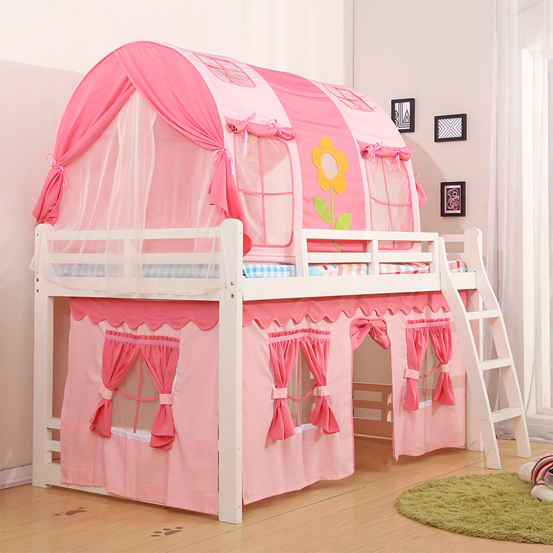 ... European bed mantle flower bed mantle flower package heightening zipper tent gauze curtain style rainbow tianzifang Large window custom cotton fabric ... & USD 27.23] New Childrenu0027s bed tent boy girl bed tent room Bunk Bed ...